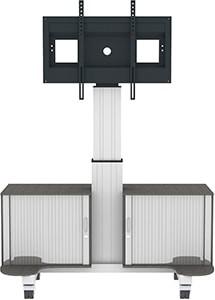 Fahrbare Displayhalterung, elektronisch höhenverstellbar
