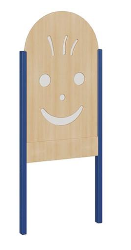 """Seitenelement für kleine Spielburgen, unten offen, oben Plexiglasgesicht, verschiedene Breiten """"B un"""