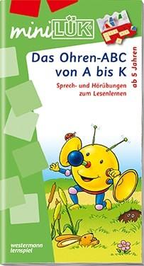 """miniLük Übungsheft """"Das Ohren-ABC von A bis K"""""""