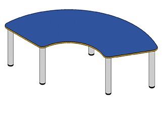 Drittelkreis Tisch, verschiedene Höhen