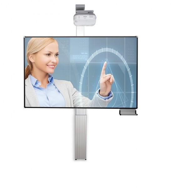 Elektr. höhenverstellbares Pylonensystem für stiftbedienbare Projektoren
