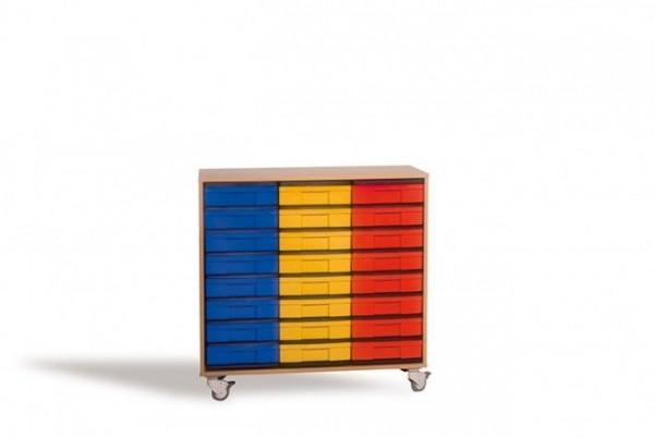 Fahrbares InBox Regal mit 24 Boxen