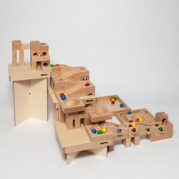 Holzkugelbahn Größe S, Baukasten