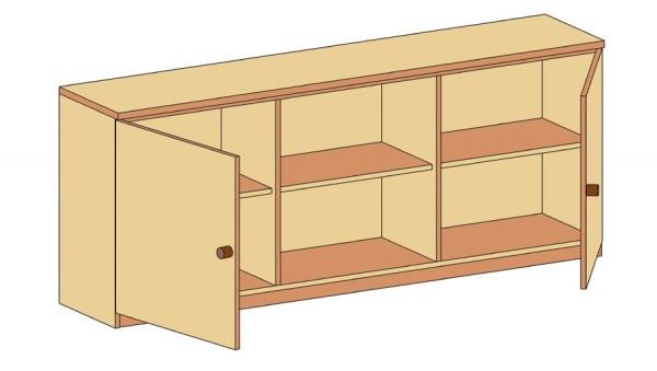 Sideboard mit Schranktüren und offenem Regalfach