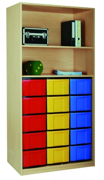 Materialregal mit InBoxen und 1 Einlegeboden