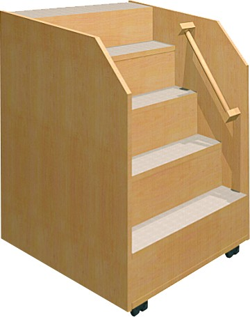Fahrbare Treppe für Wickelkommoden