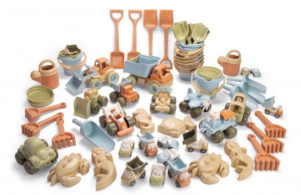 BIO PLAST - Sandspielzeug mit Fahrzeugen 62 tlg.