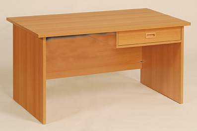 Schreibtisch mit Schub und Sichtblende
