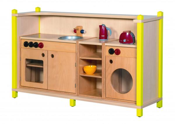 Spielküche mit Unterschränken und Waschmaschine