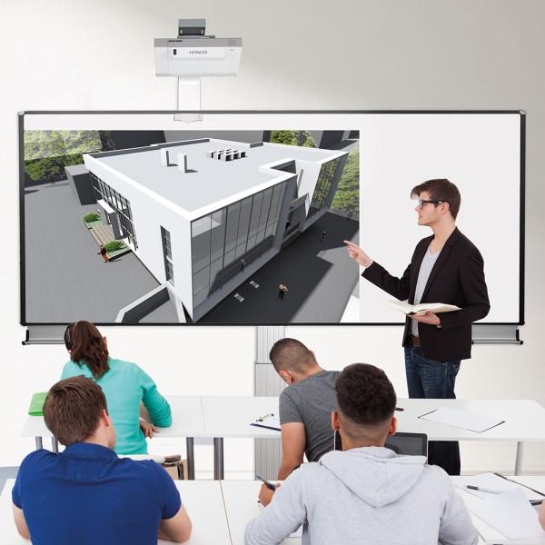 XL-Pylonensystem zur Wandmontage mit Bodenplatte, fingertouch (Ohne Projektor)