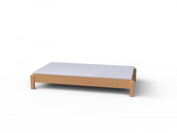 Stapelbett, optional mit erhöhten Seitenteilen und Matratze