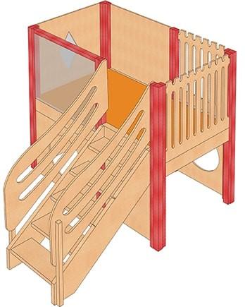 Mittlere Spielburg mit Treppe