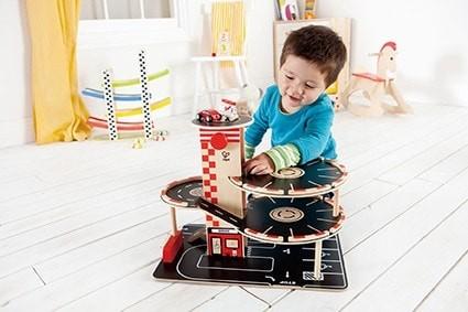 Holz Parkgarage für Spielzeugautos