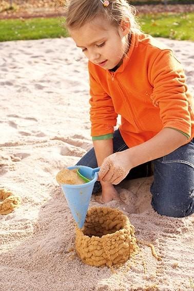 Sandform Kleckertüte