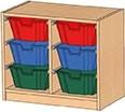 Schrank mit Ergo Tray Boxen