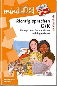 "miniLük Übungsheft ""Richtig sprechen G/K"""