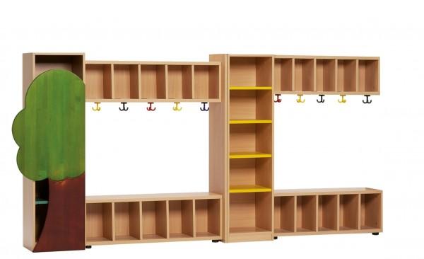 Kindergarderoben-Set mit 10 Plätzen