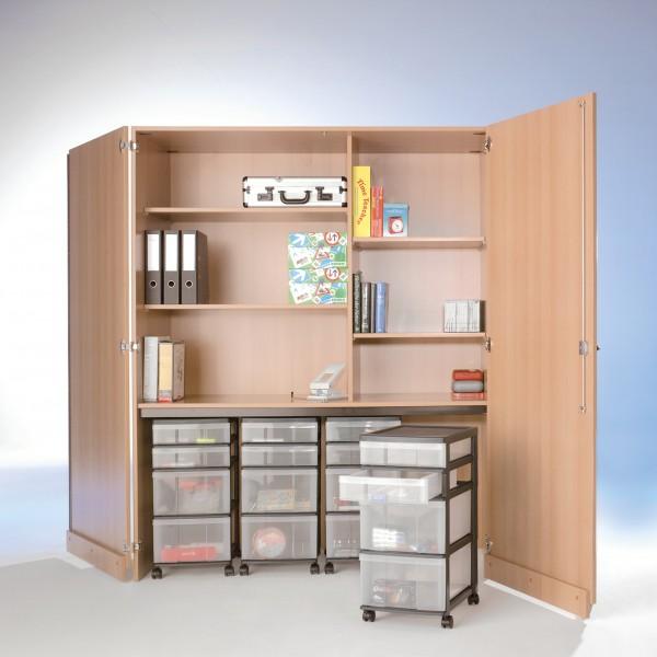 InBox Garagenschrank mit 4 fahrbaren Containern