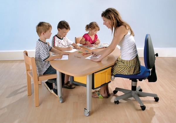 """Tisch 169 x 90 cm """"Freiform"""" mit 2 InBoxen Größe """"L"""""""