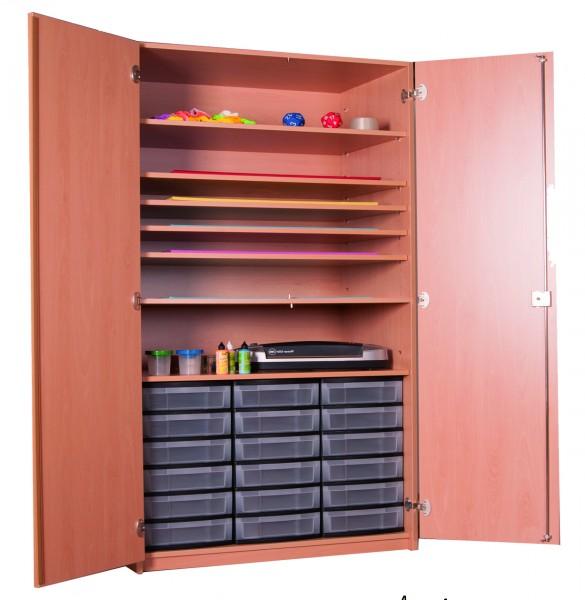 Materialschrank mit Modulboxen und Einlegeböden