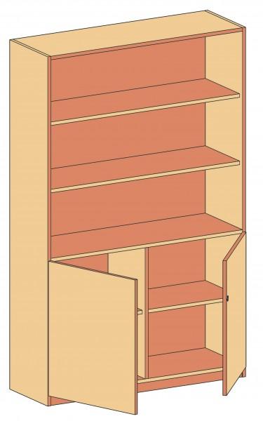 Regalschrank, verschiedene Türen