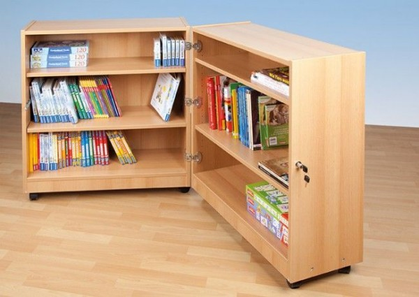 Mobile Klappbibliothek