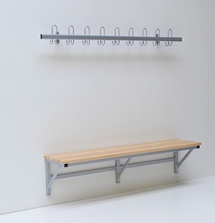 Wandmontierte Sitzbank