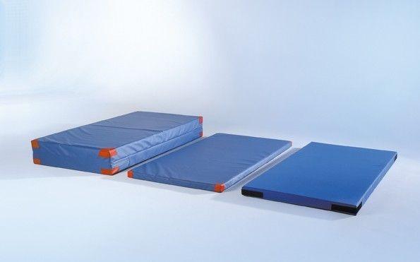 Weichbodenmatte Blau-Uni