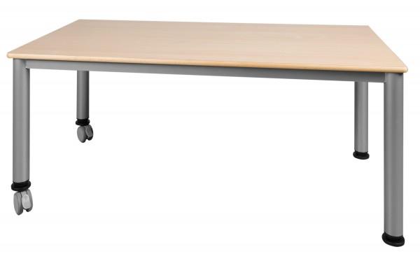 Rechtecktisch mit Stahlgestell - fahrbar oder feststehend in verschiedenen Größen