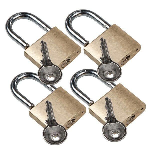 Sicherheits-Vorhängeschloss 4er Set