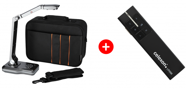 celexon Dokumenten-Kamera DK800 mit Tragetasche M + GRATIS Laser-Presenter Expert LP250