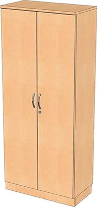 Garderobenschrank mit 4 Einlegeböden und Garderobenstange