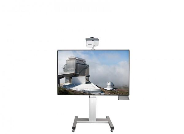 Pylonensystem für stiftbedienbare Projektoren, fahrbar & elektr. höhenverstellbar