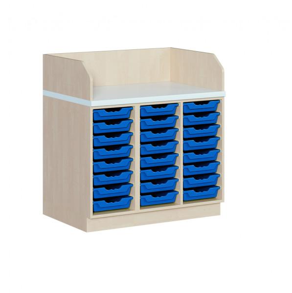 Wickelkommode mit 24 ErgoTray Boxen