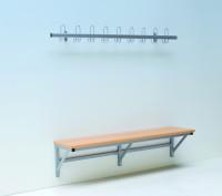 Sitzbank wandmontiert, 150 cm
