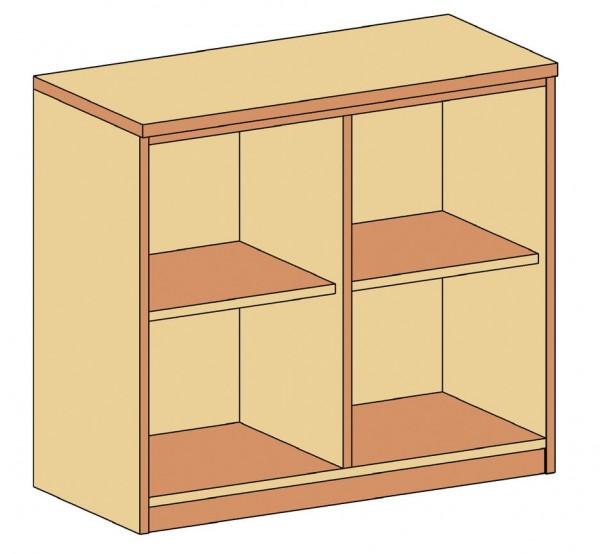Sideboard mit Mittelwand und 2 Einlegeböden