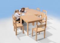 Massivholztisch - Quadrattisch