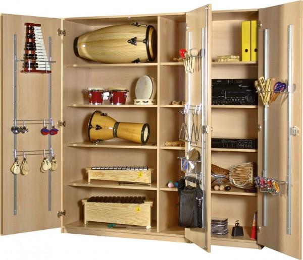 Musikschrank, dreitürig, 180x190x60 cm