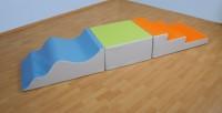Verschiedene Kunstlederelemente - Schaumstoff Balanciergeräte