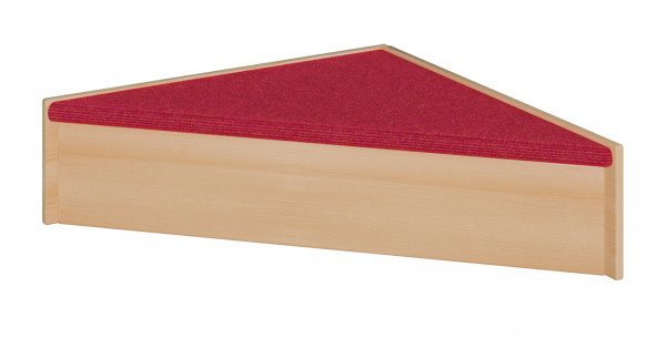 Podest mit Tretford-Teppich - Dreieckspodest