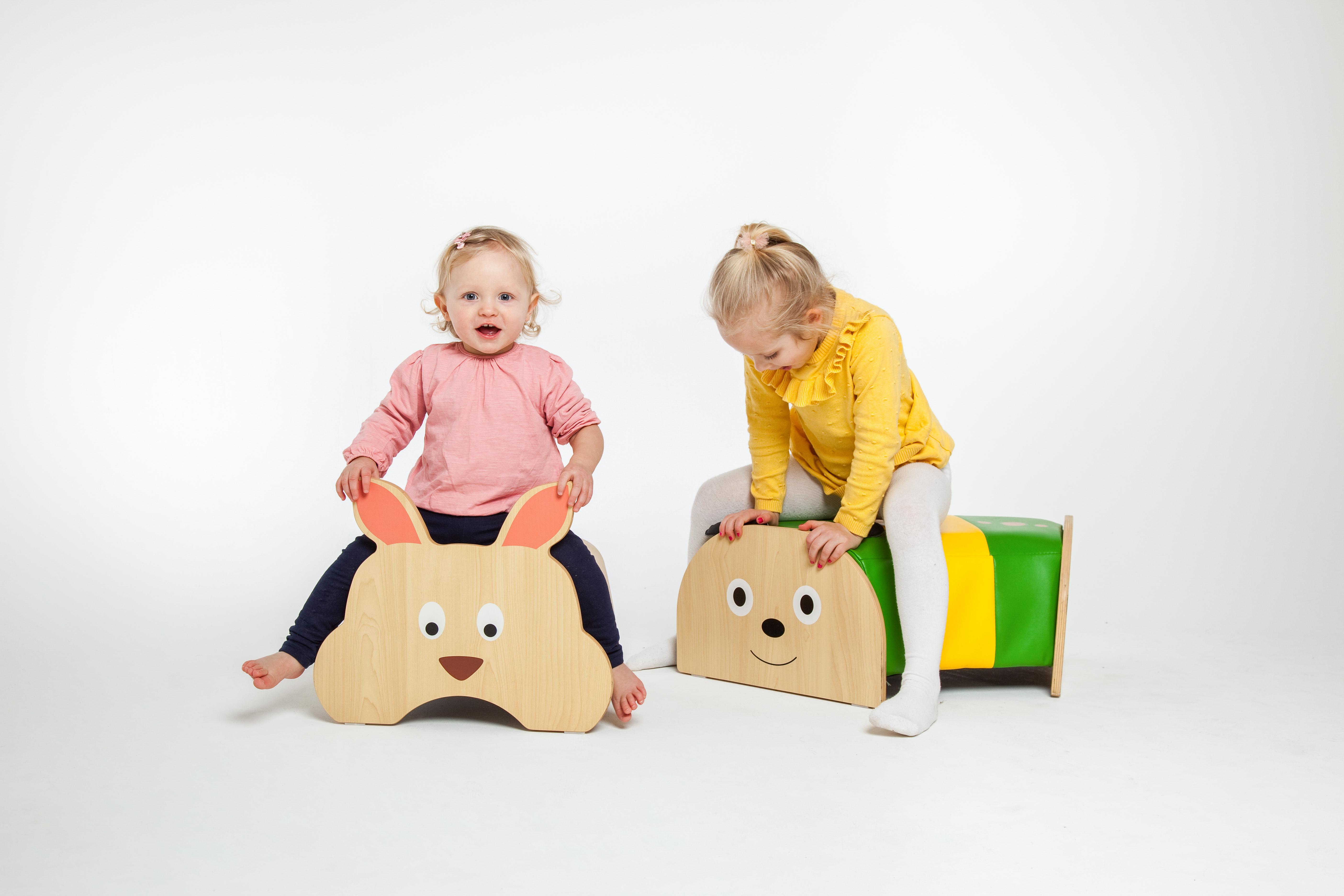 Kinder Sitzhocker verschiedene Tiermotive