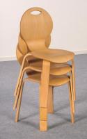 Stuhl PEARL, natur oder farbig