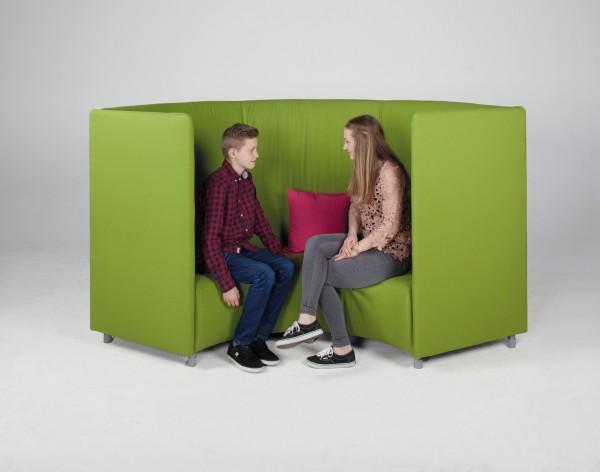 Akustiksofa, 3 - 4 Sitzer - Baumwollbezug, schwer entflammbar