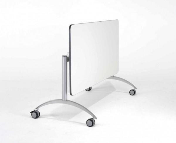 Fahrbarer Seitenklapptisch mit Melaminplatte