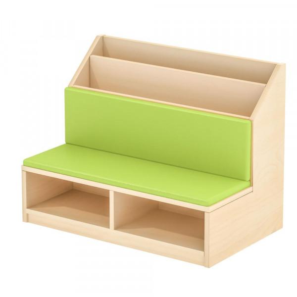Bücherregal mit Sitzgelegenheit