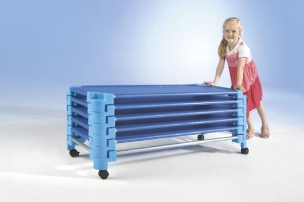 Transportwagen für 10 stapelbare Kinderbetten