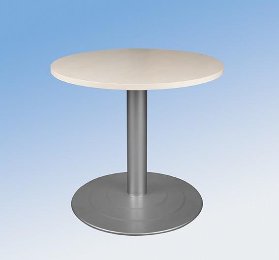 Runder Tisch mit Tellerfuß