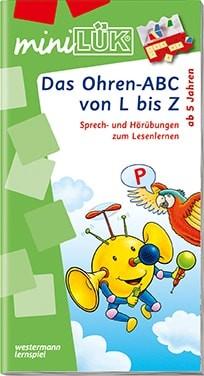 """miniLük Übungsheft """"Das Ohren-ABC von L bis Z"""""""