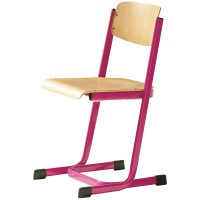 Schülerstuhl, Kufenstuhl mit verstärktem Sitzträger