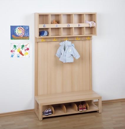 Komplett-Garderobe mit Rückwand